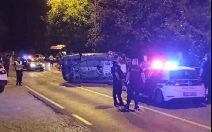 Udes na Kobiljoj Glavi: Automobil se prevrnuo na krov