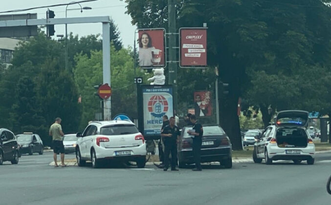Sudarila se dva vozila na Marindvoru, saobraćaj se odvija otežano